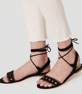 LOFT Cutout Lace Up Sandals