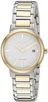 Citizen Eco-Drive Women's 'Sport' Quartz Stainless Steel Casual Watch, Color: Two Tone (Model: EW2374-56A)