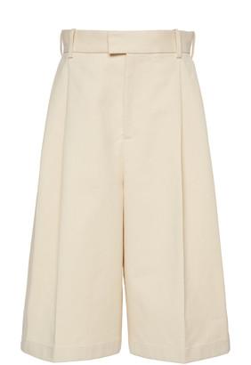 Bottega Veneta Pleated Cotton Shorts