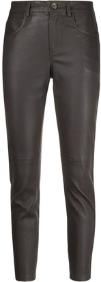 Lorena Antoniazzi cropped leather trousers