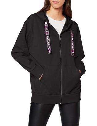 Armani Exchange Women's Logo Draw Strings Hoodie