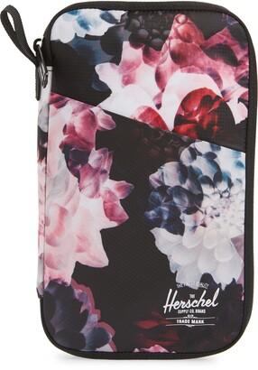 Herschel Floral Print Travel Wallet