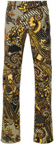 Versace printed straight-leg jeans