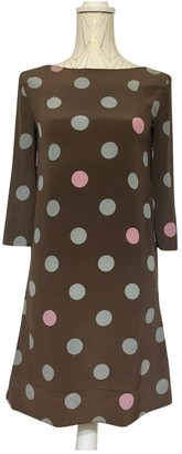 Marni Brown Silk Dresses