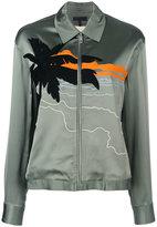 Rag & Bone beach embroidered bomber jacket - women - Cotton/Polyamide/Viscose - S