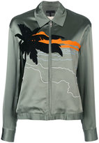 Rag & Bone beach embroidered bomber jacket