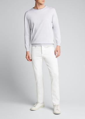 Kiton Men's Crewneck Cotton Sweater