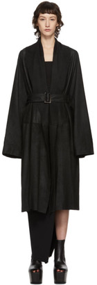 Rick Owens Black Mountain Coat