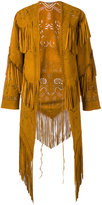 Roberto Cavalli fringed coat - women - Suede - 40