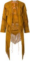 Roberto Cavalli fringed coat - women - Suede - 40
