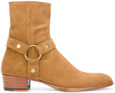 Saint Laurent Signature Wyatt 40 harness boots - men - Leather/Calf Suede - 40