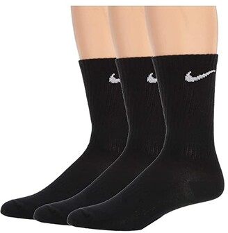Nike Everyday Lightweight Crew 3-Pair (Black/White) No Show Socks Shoes