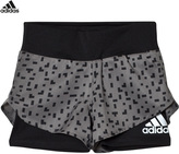 adidas Grey Printed Running Shorts