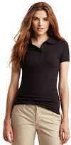 Aeropostale Womens Solid Uniform Pique Polo Shirt