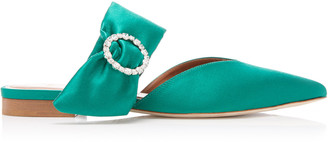 Malone Souliers Maite Crystal-Embellished Satin Flats