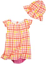 Isaac Mizrahi Gingham Sundress & Sunhat Set (Baby Girls 0-9M)