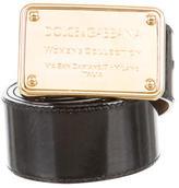 Dolce & Gabbana Patent Leather Buckled Belt