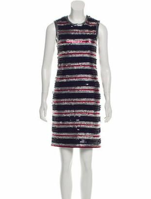 Lanvin 2016 Sequin Dress Navy