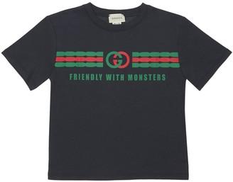Gucci Logo Print Cotton Jersey T-shirt