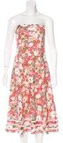 Vera Wang Linen Floral Print Dress