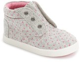 Toms Toddler Girl's 'Paseo' High Top Sneaker