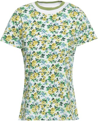 Zimmermann Floral-print Linen And Cotton-blend T-shirt