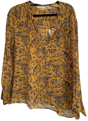Etoile Isabel Marant Yellow Silk Top for Women