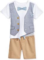 Nannette 2-Pc. Cotton Graphic-Print T-Shirt & Shorts Set, Baby Boys (0-24 months)