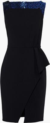 Lanvin Bead-embellished Wool-blend Crepe Dress
