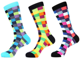 Jared Lang Square Mercerized Intarsia Socks (4 PK)