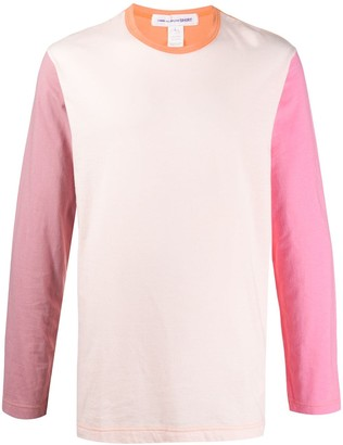 Comme des Garçons Shirt Colour-Block Long-Sleeved Top