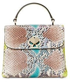 Kate Spade Romy Python Embossed Mini Top Handle Bag