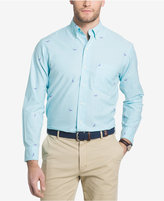 Izod Men's Fish Print Cotton Shirt