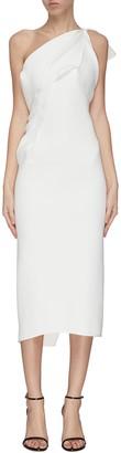 Maticevski 'Atomised' drape one shoulder midi dress