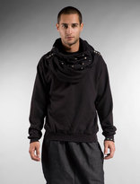 Hood by Air Eat the Children Cowlneck in Black