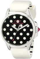 Juicy Couture Women's 1901221 Jetsetter Analog Display Quartz White Watch