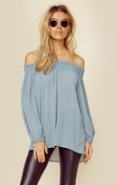 Blue Life easy breezy off shoulder top