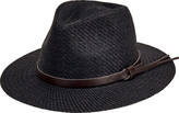 San Diego Hat Company Faux Leather Band Cut and Sew Paper Fedora CTH3561 (Men's)