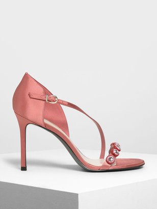 Charles & Keith Embellished Strappy Heels