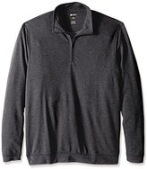 Haggar Men's Big-Tall Twill Knit Quarter Zip Sweater