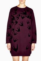 McQ by Alexander McQueen Flock Print Swallow Dress