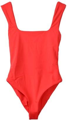 Mara Hoffman Persephone Swimsuit in Red Coat