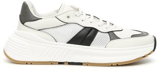 Bottega Veneta SPEEDSTER SNEAKERS 40 White, Black, Grey Leather, Technical