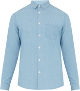 A.P.C. Xavier point-collar cotton-chambray shirt