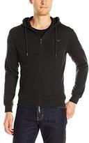 Armani Jeans Men's Full Zip Hoodie Sweatshirt with Chest Logo
