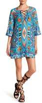 Jets Aztec Print Tie Front Tunic