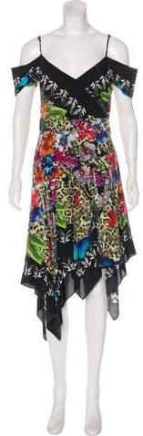 Nicole Miller Silk Midi Dress w/ Tags
