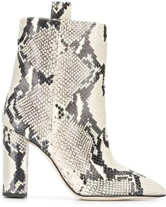Paris Texas Animal Print Ankle Boots