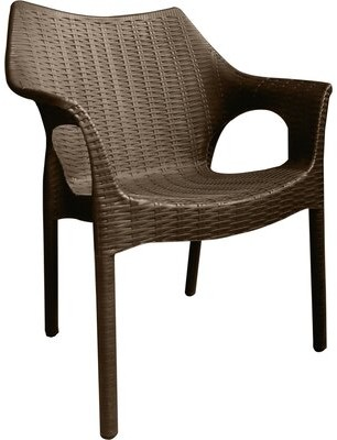 Rockwell Wrought Studio Carina Weatherproof Patio Chair (Set of 2) Wrought Studio Color: Brown