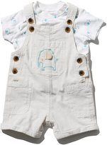 M&Co Elephant dungarees and top set